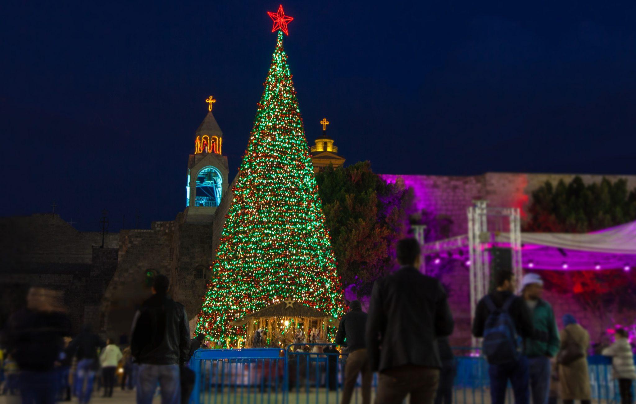 Bespoke large artificial Christmas tree