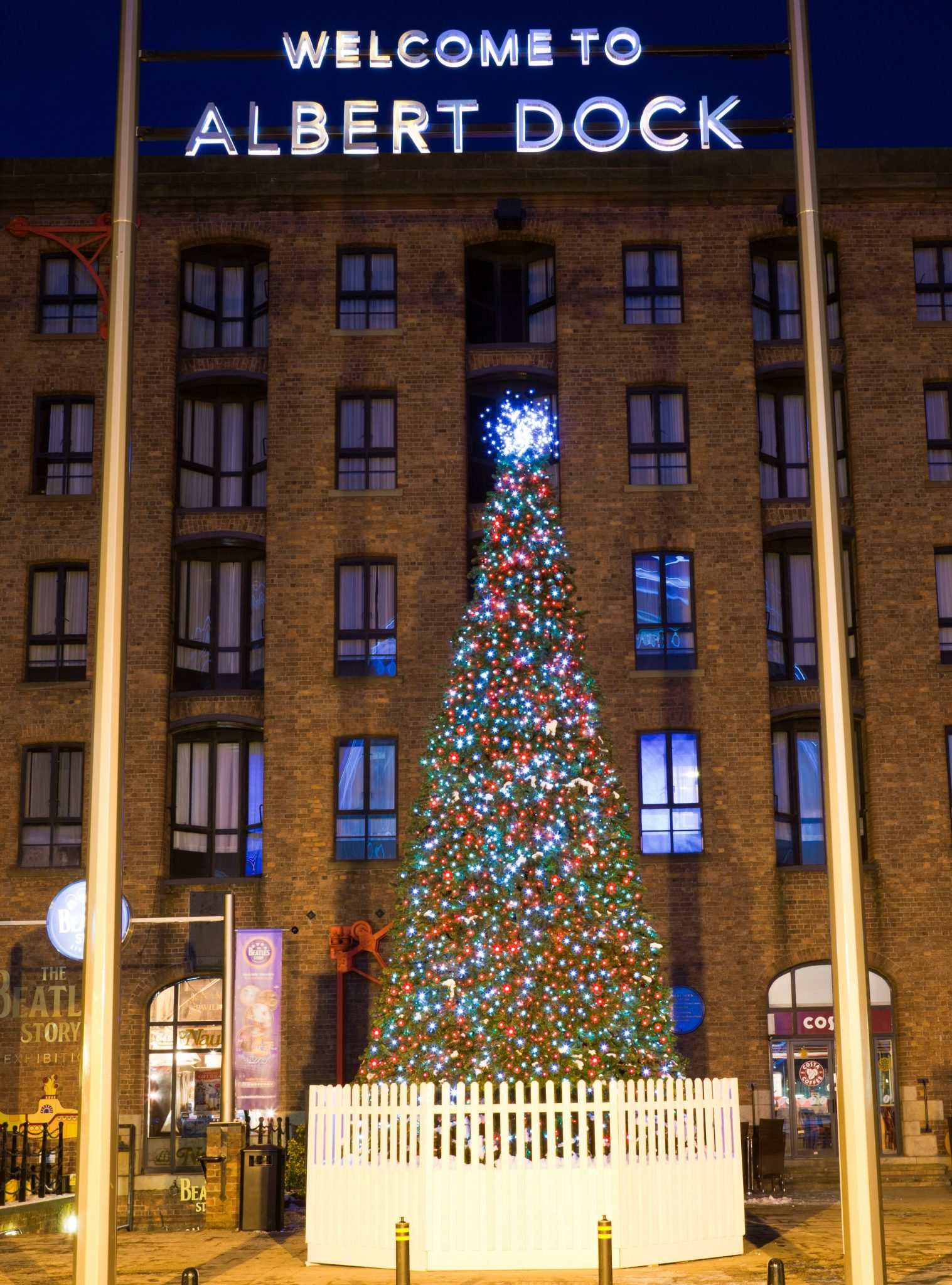 Albert Dock Christmas giant Christmas tee