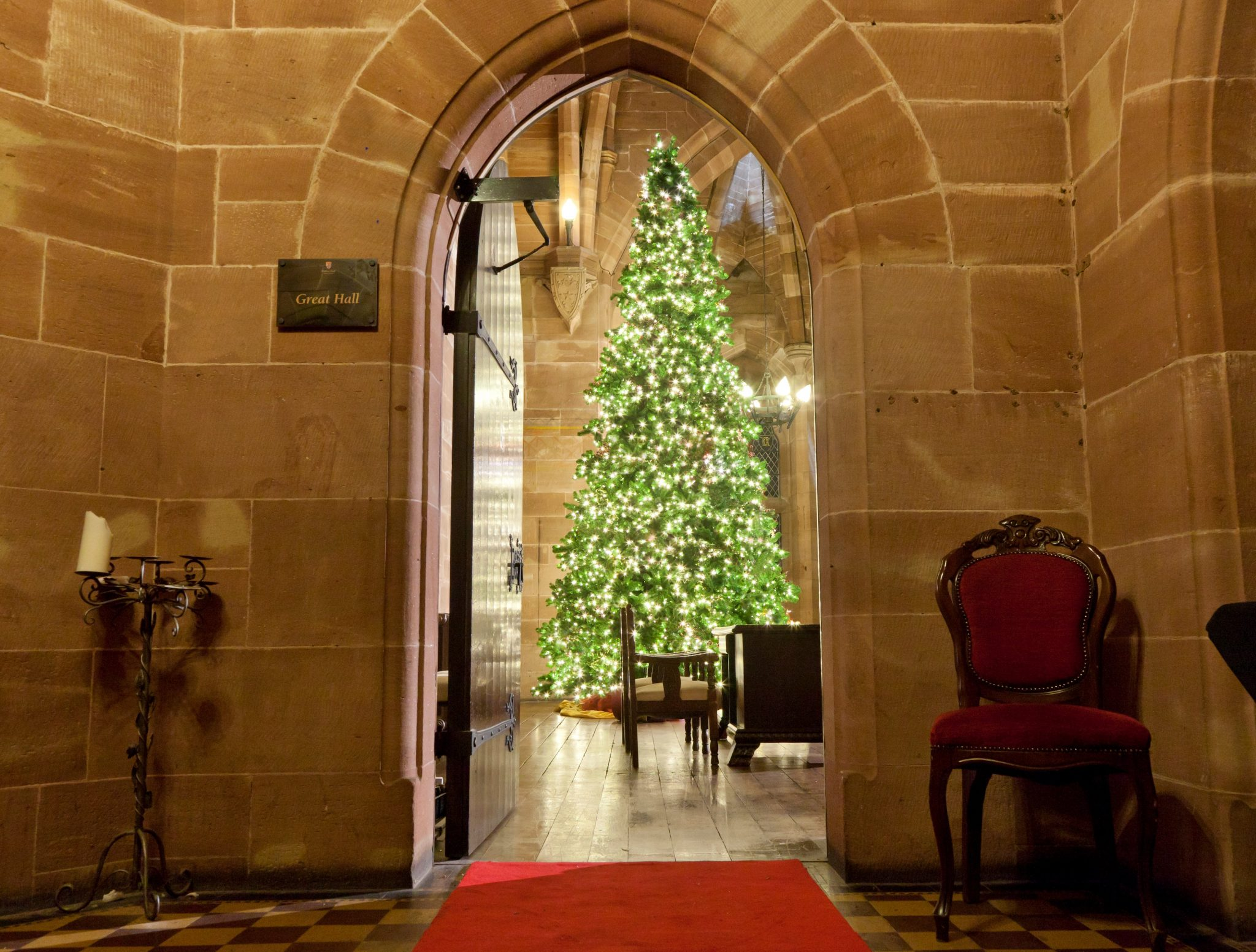 18ft artificial Christmas tree