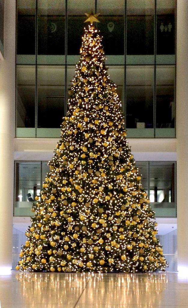 Beautiful traditional commercial Christmas tree