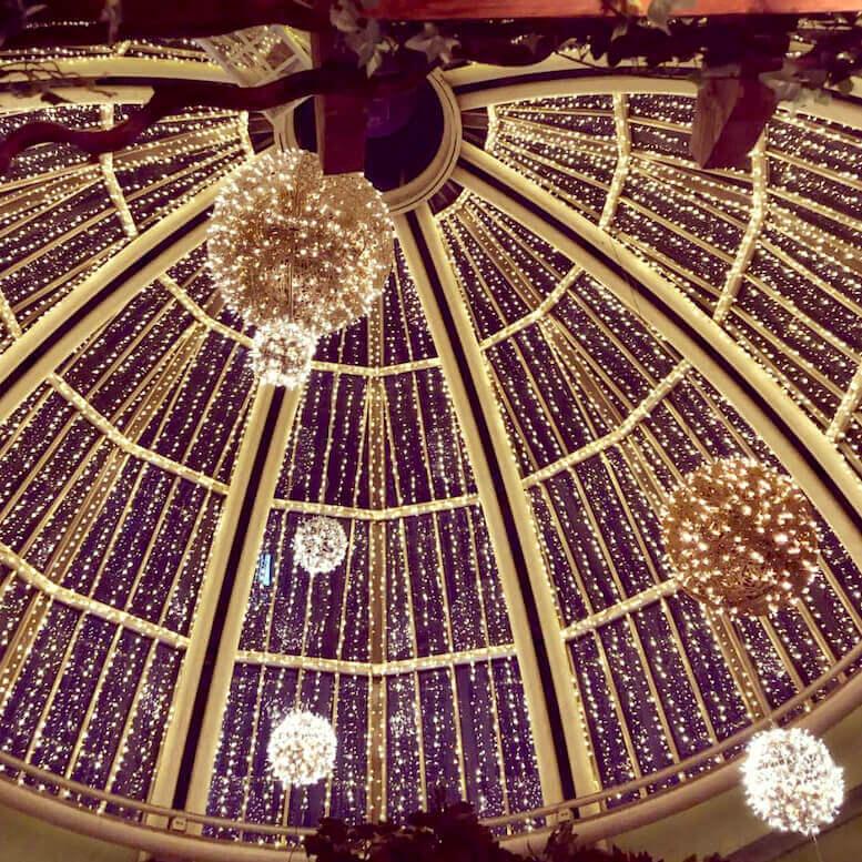 dome lights christmas bar restaurant