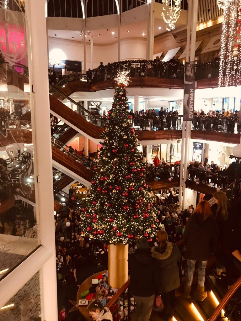 Bespoke commercial Christmas tree in Glasgow